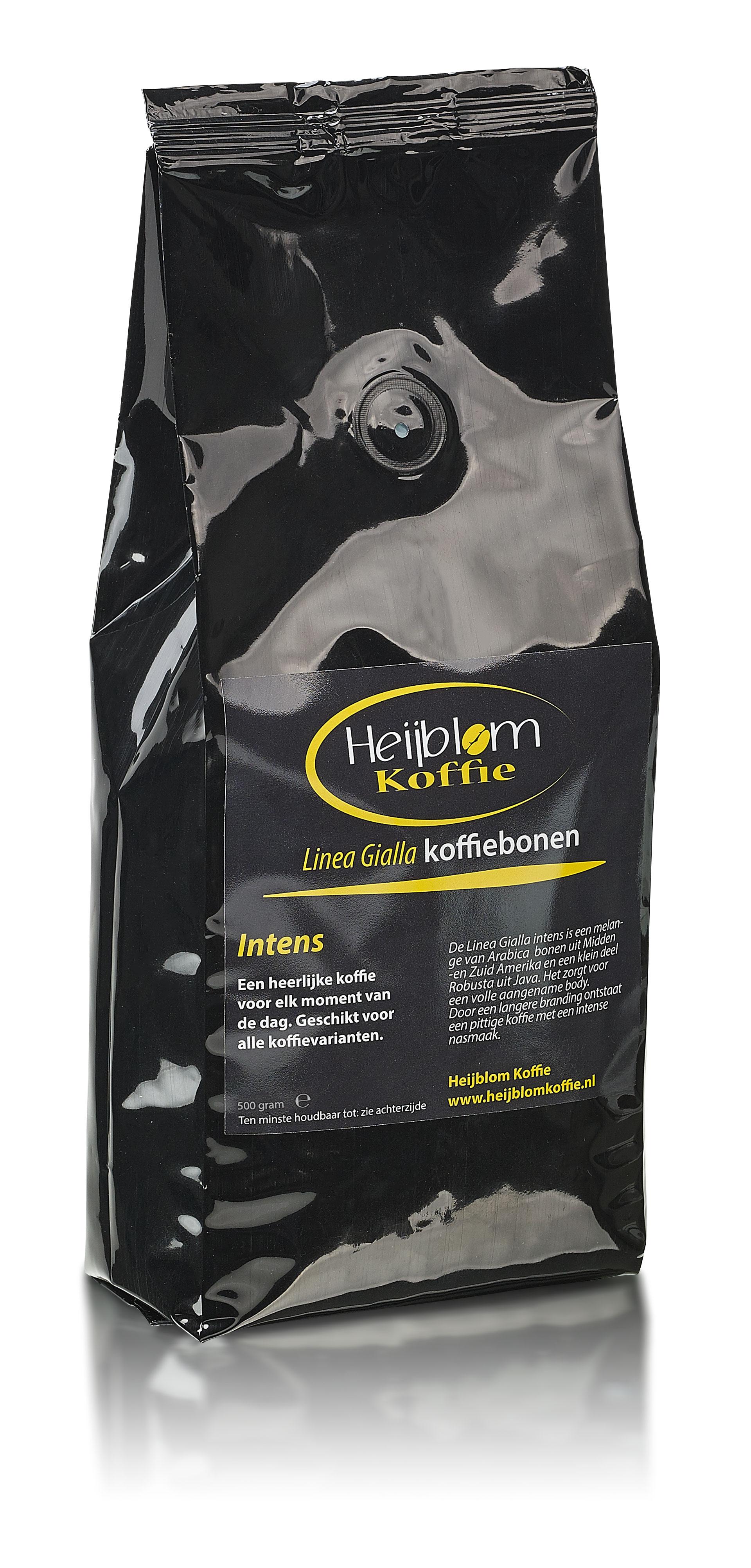 linea gialla intens espresso Heijblom koffie
